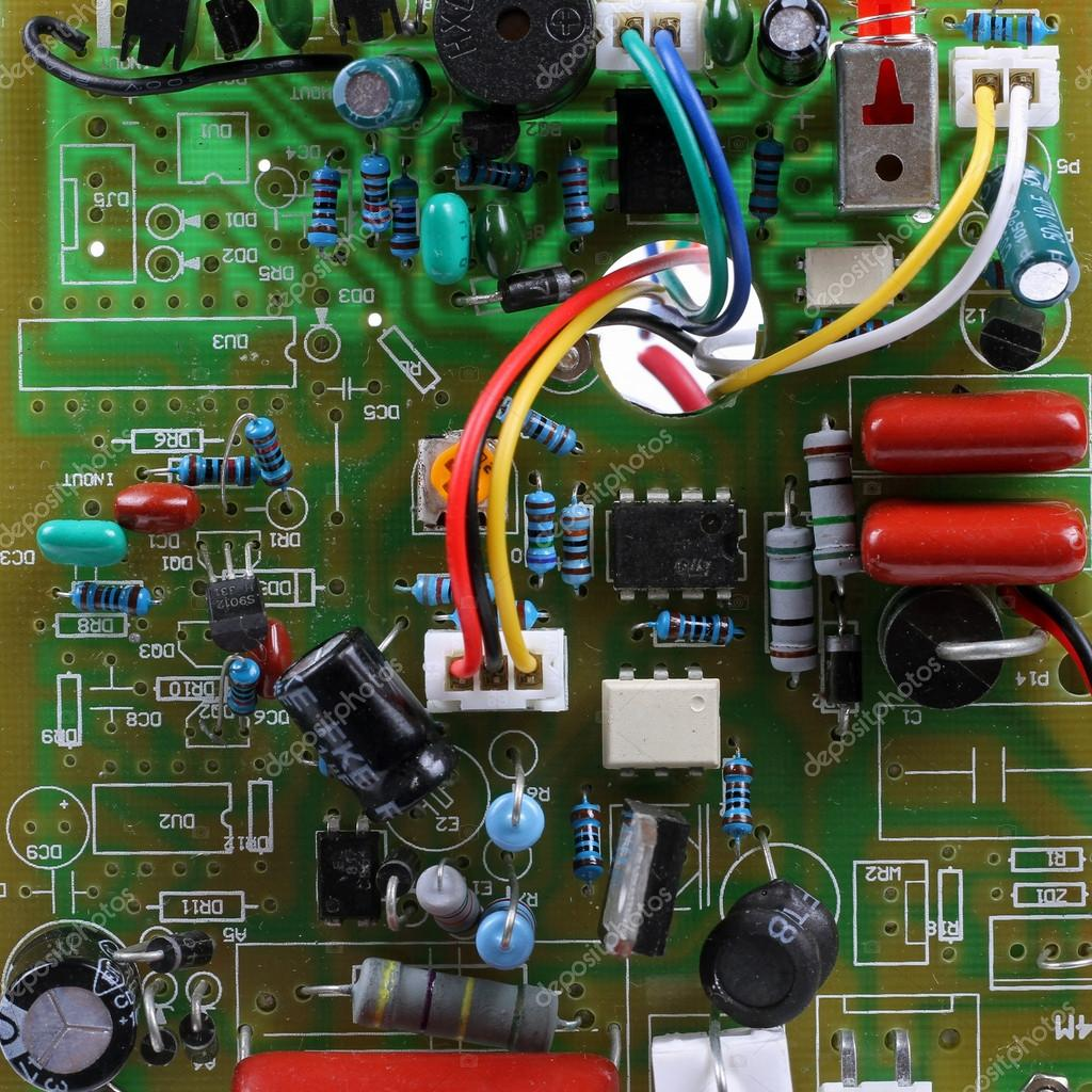 Circuit Board With Electrical Components And Wires Stock Photo Assembly Buy Electronic Circuits Boardcircuit By Ronstik
