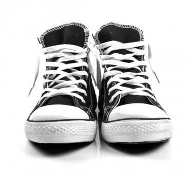 a pair of new sneakers isolated on white