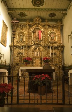Mission San Juan Capistrano Church Alter Close Up