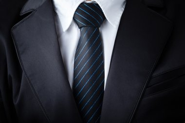 Closeup businessman suit and tie