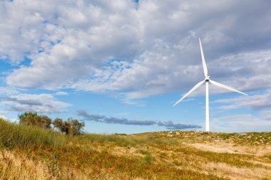 Windmill landscape - renewable energy source