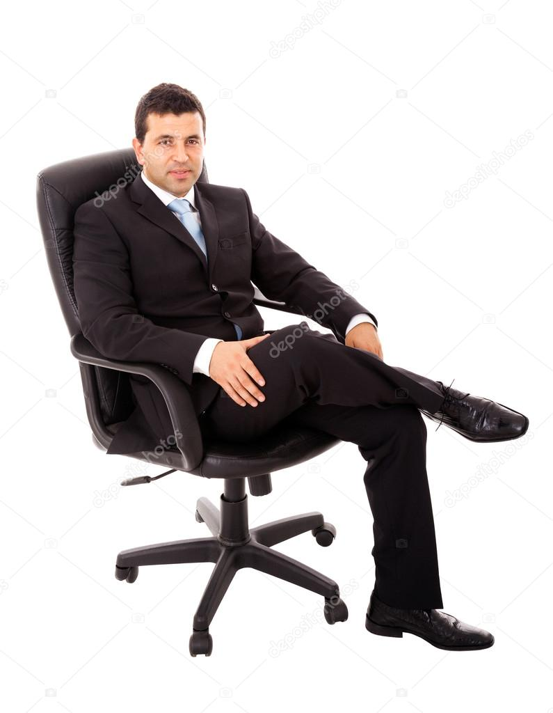 Young Business Man Sitting In A Chair And Relaxing