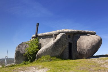 Stone house in the top of a mountain near Guimaraes, Fafe Portug