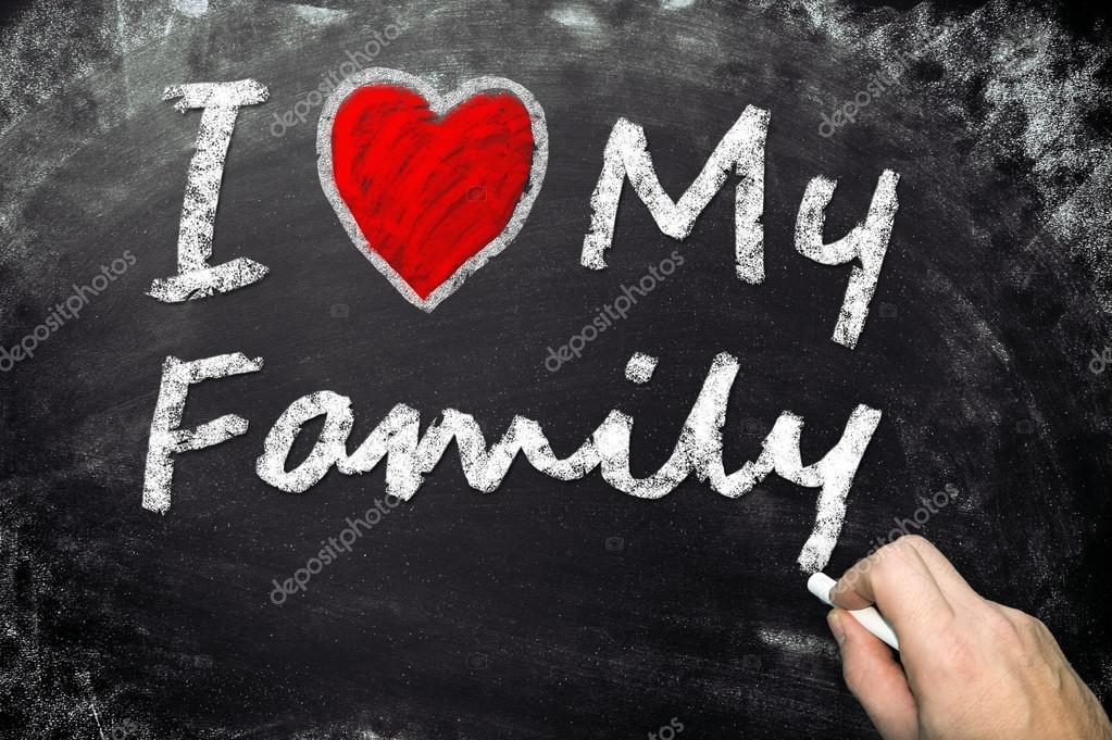 Открытка день, люблю свою семью картинки на английском языке