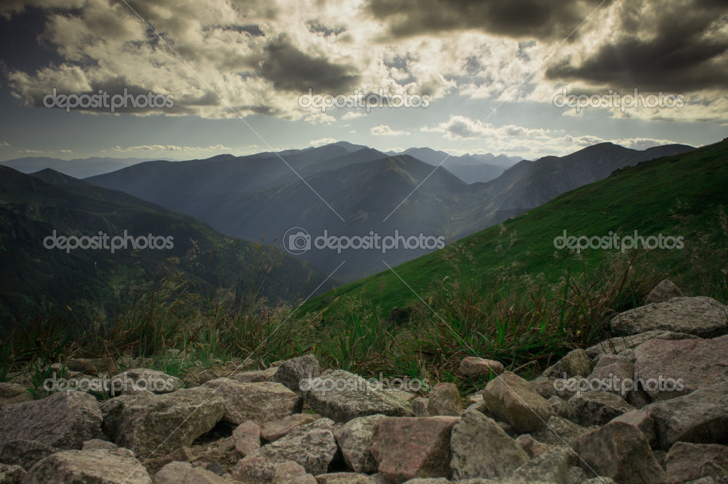Picture of the mountain views in the Tatras