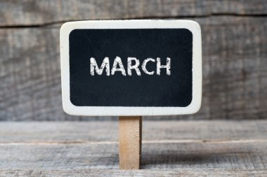 March on Small wooden framed blackboard