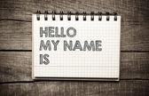 Fotografia Ciao il che mio nome è