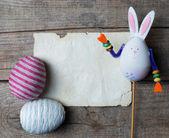 Fényképek húsvéti tojás és a nyúl