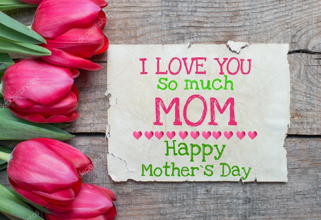 I Love You So Much Mom Stock Photo Roobcio 42257783