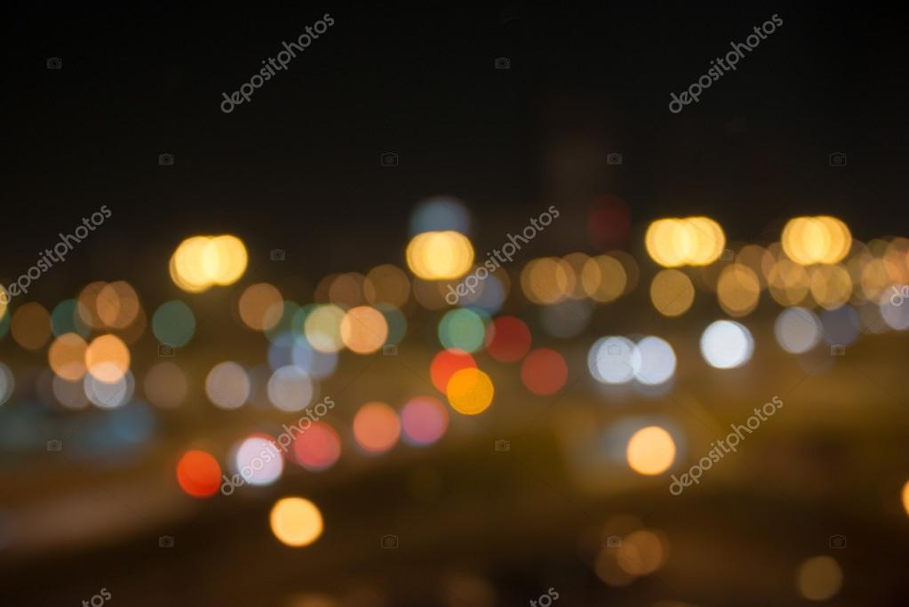 Blured lights of night city
