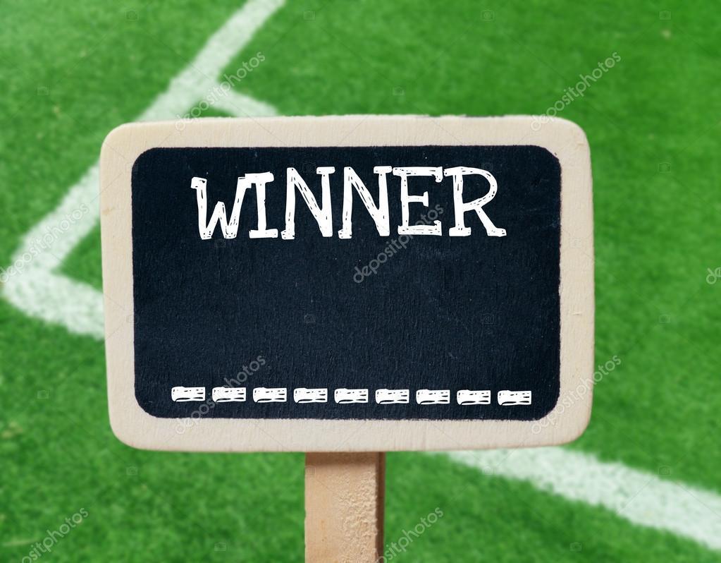 Gewinner kleine hölzerne gerahmte Tafeln — Stockfoto © roobcio #47773411