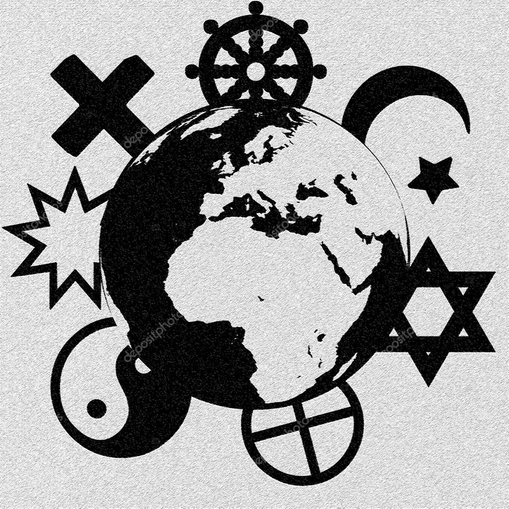 Religious symbols of our planet stock vector