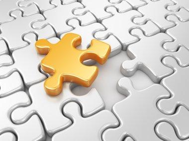 Puzzle 3D. Innovate business concept