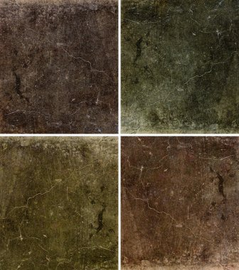 Set of 6 painted grunge texture