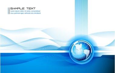 Clean futuristic vector design template with earth globe