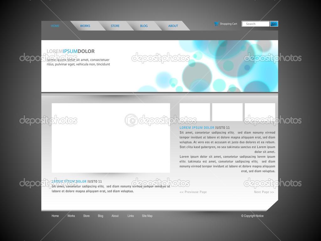 moderne Website Vektor Entwurfsvorlage mit Banner-design ...
