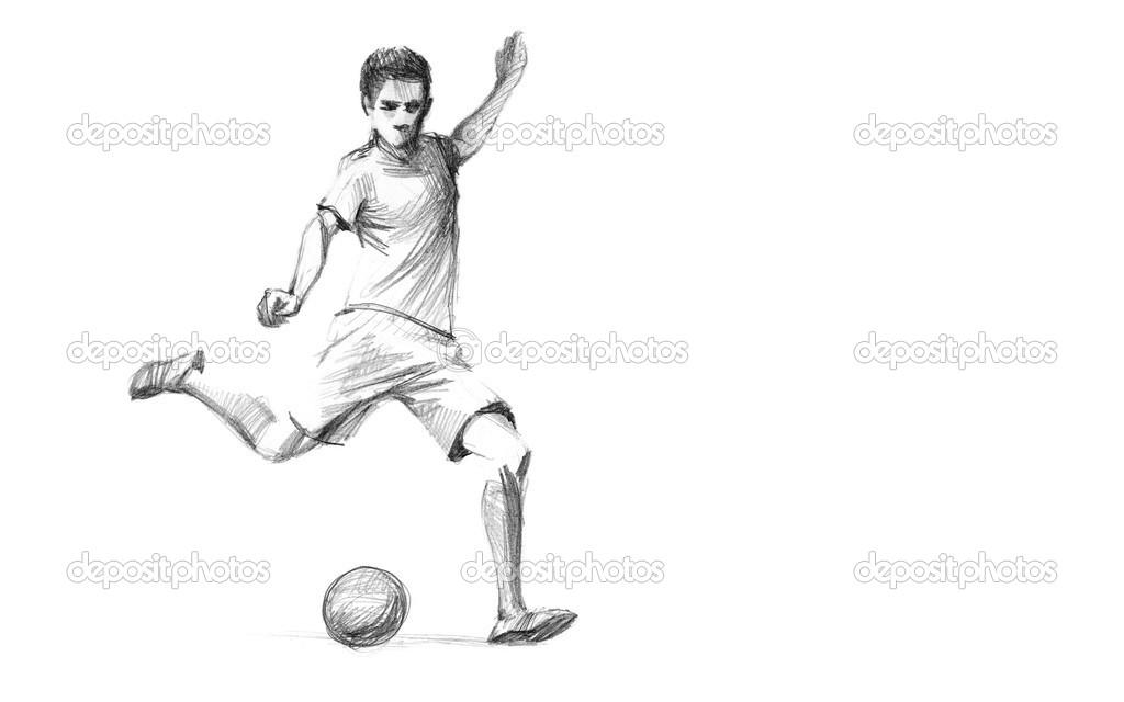 Skizze Fussballspieler Stockfoto C Zsoltercsei 31255751