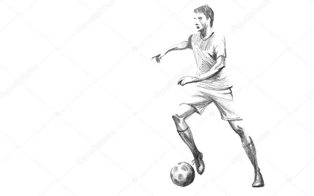 Skizze Fussballspieler Stockfoto C Zsoltercsei 31255755