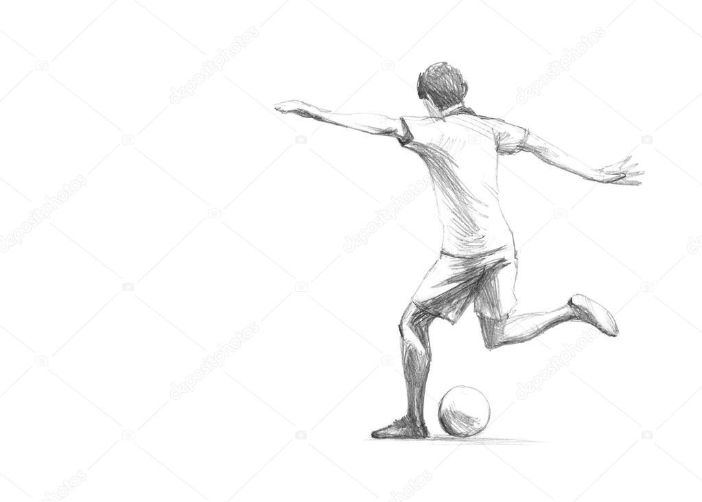 Skizze Fussballspieler Stockfoto C Zsoltercsei 31255767