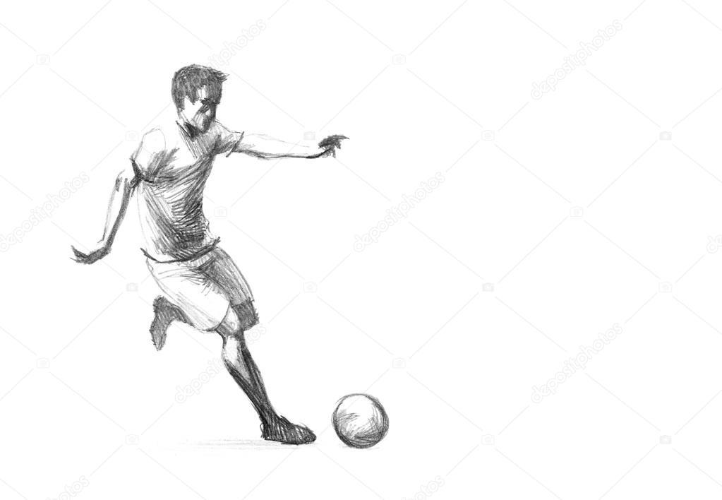 Skizze Fussballspieler Stockfoto C Zsoltercsei 31255785