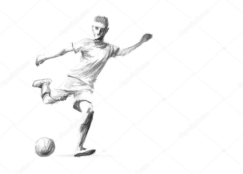Skizze Fussballspieler Stockfoto C Zsoltercsei 31255803