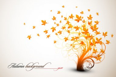 Autumn Tree - Clean Vector Composition