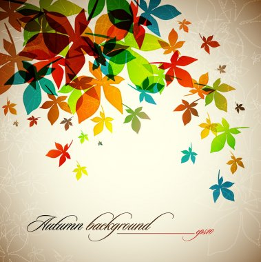 Autumn Background - Falling Leaves