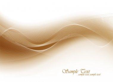 Elegant Wave Design Template clip art vector