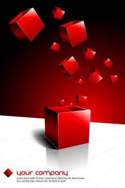 Red Present Box Having Other Boxes Flying Out Of It