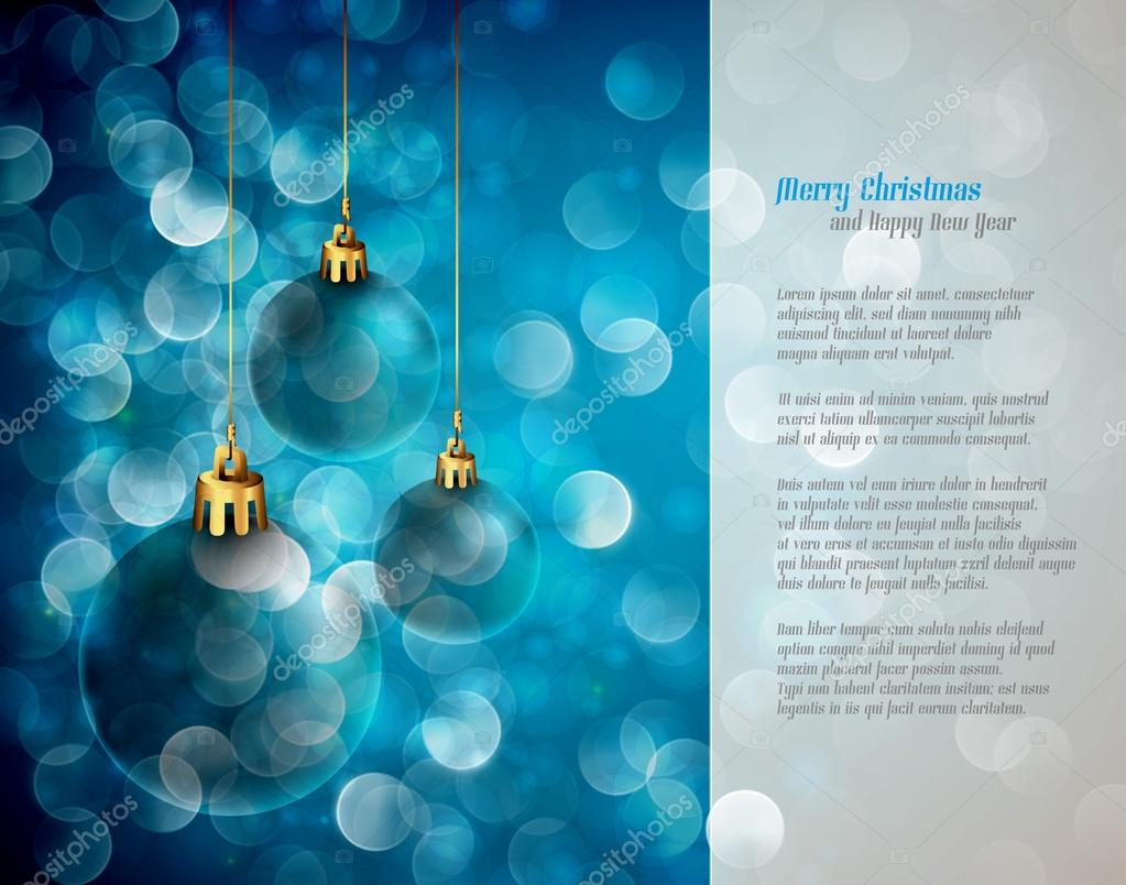 Christmas Lights and Spheres - Greeting for Poems