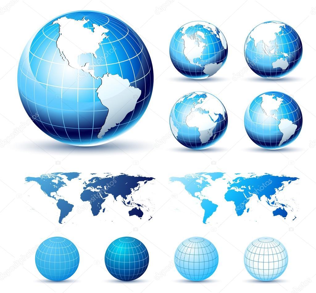 Glossy Earth Globes.