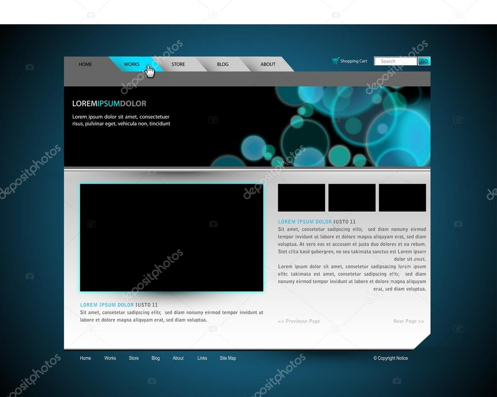 moderne dunkle Website Vektor Entwurfsvorlage mit Banner-design ...