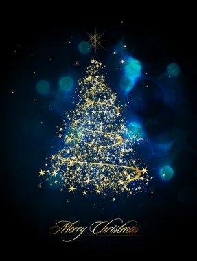 Christmas Tree of Glittering Stars