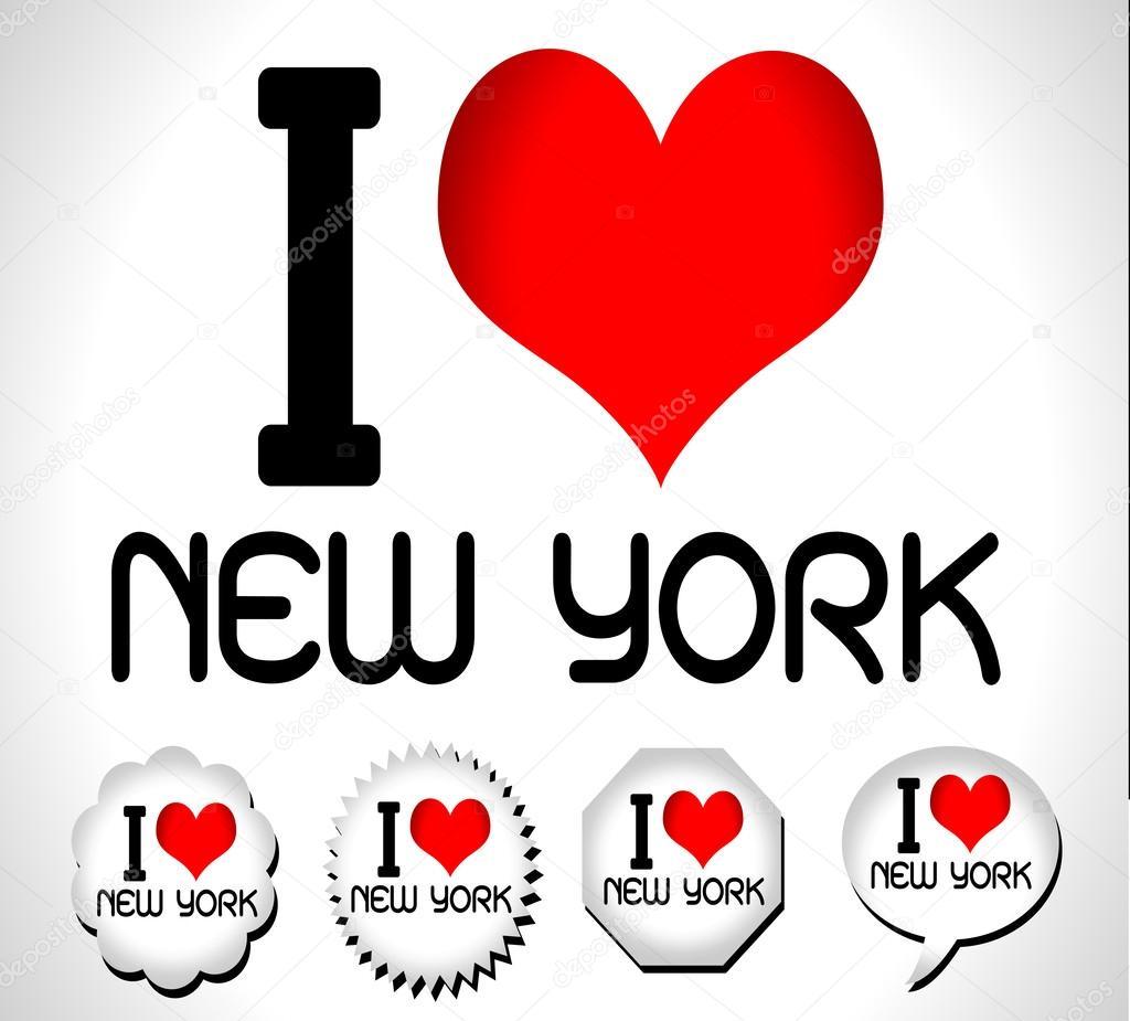 I Love New York Stock Vector Porjai 35794595