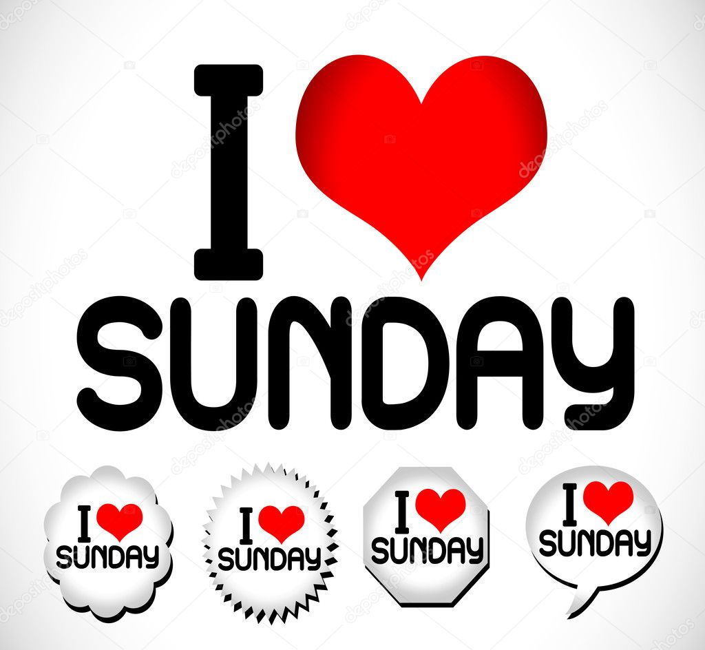i love the days of the week sunday monday tuesday wednesday