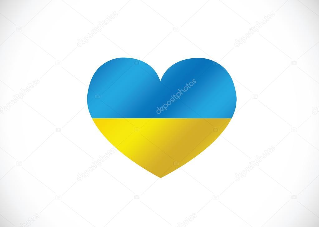 Картинки жовто блакитного серця