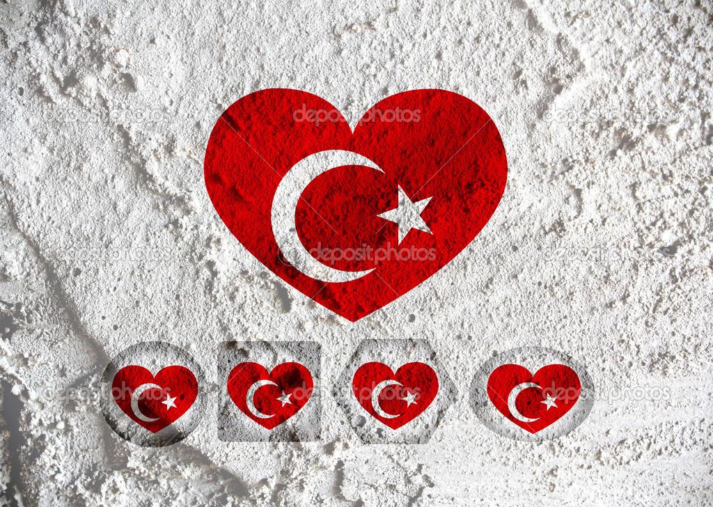 Открытка с турецкими надписями, днем