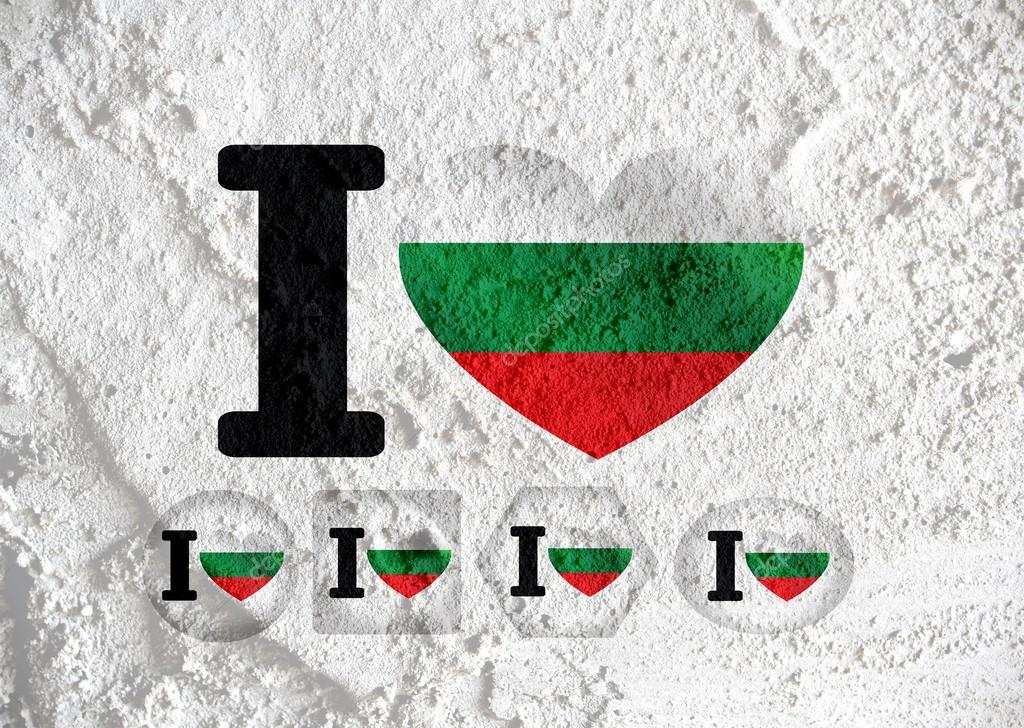 Graphic Design Muur : Bulgarije vlag themas idee design op muur textuur achtergrond