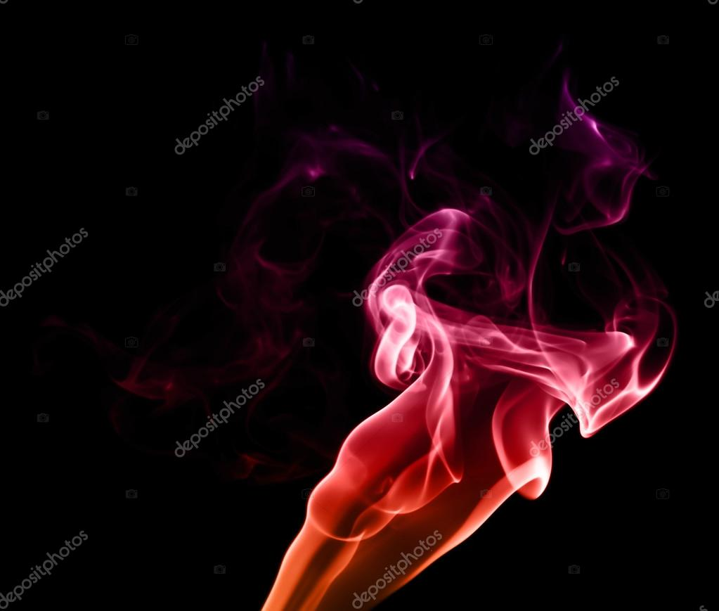 Red Purple Fire like Abstract Smoke Photo on black background