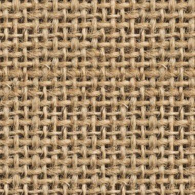 Seamless (Tileable) Fabric Jute Texture Pattern Closeup