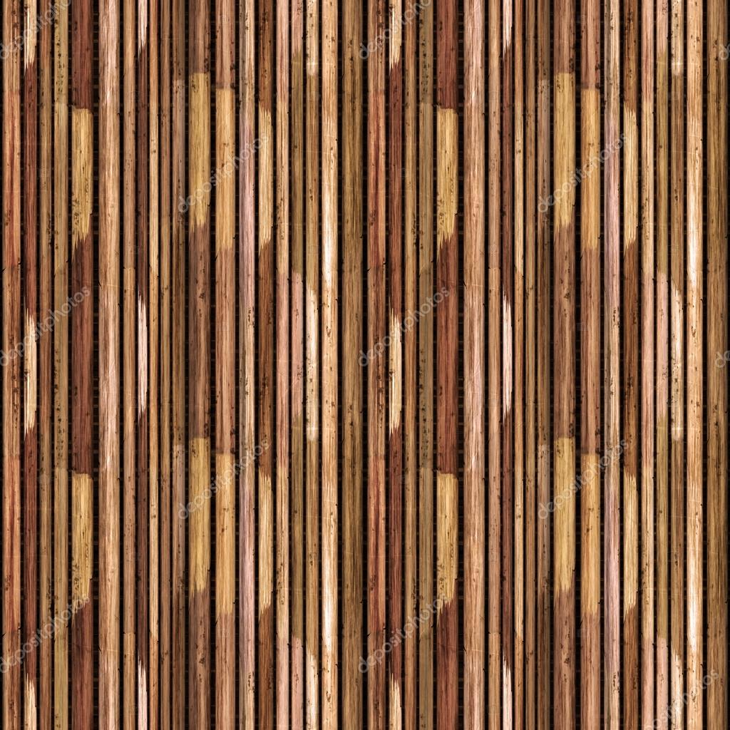 Seamless Traditional Wooden Bamboo Reed Texture Pattern