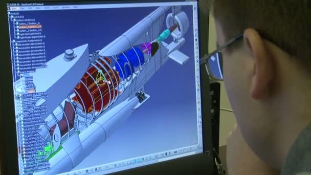 barevné jet průřez žaket detail motoru