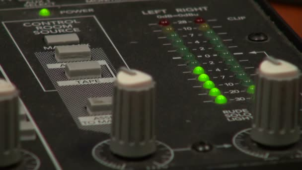 Panel for a sound recording