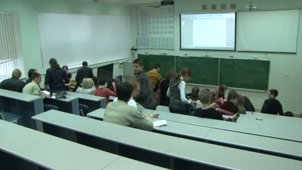 Students at a lecture in the classroom