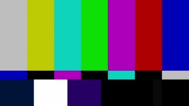 test écran de télévision couleur — Vidéo Hrustalev © #15888747