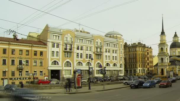 fasáda staré budovy v Petrohradu