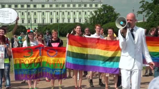 The gay parade and rally sexual minorities