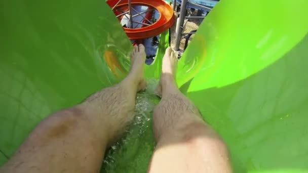 The water slide in the water Park