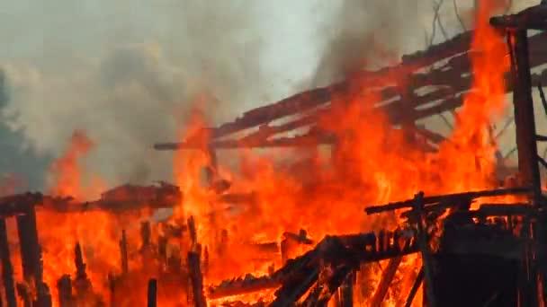 Tűz. Egy leégett ház romjai