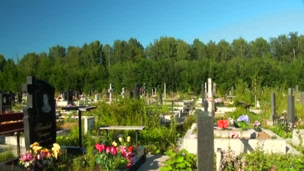 Typical russian cemetery